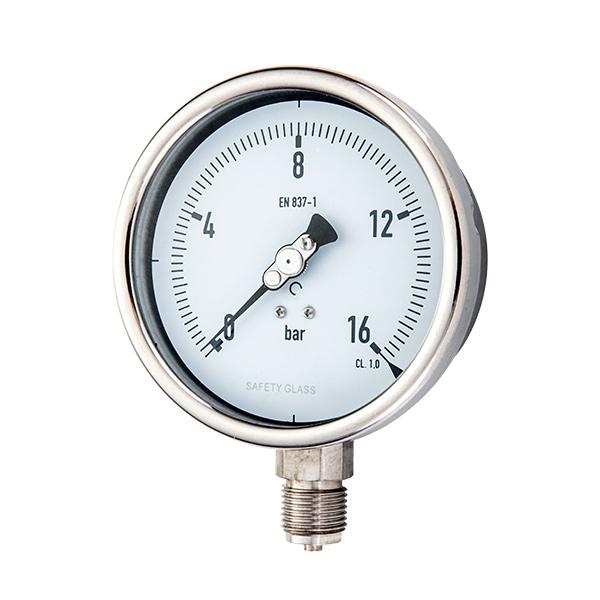 100mm radial argon arc welding type stainless steel pressure gauge OKT-19