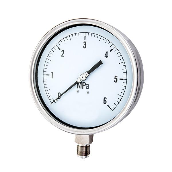 100mm  radial laser welding type stainless steel pressure gauge OKT-21