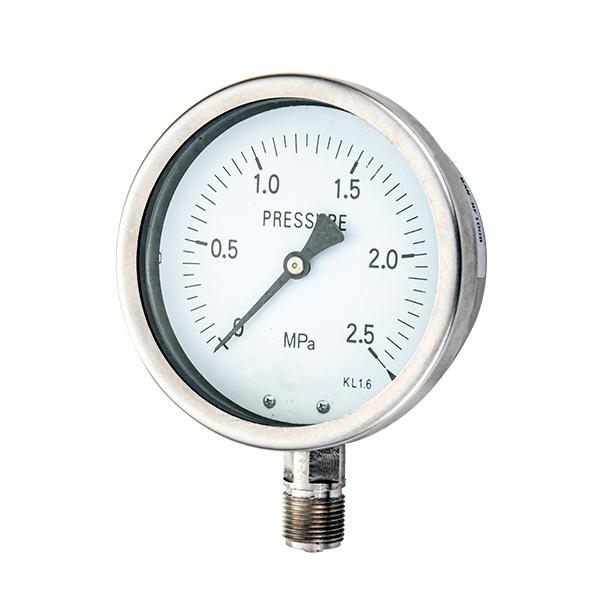 100mm  radial  stainless steel pressure gauge in one piece OKT-64