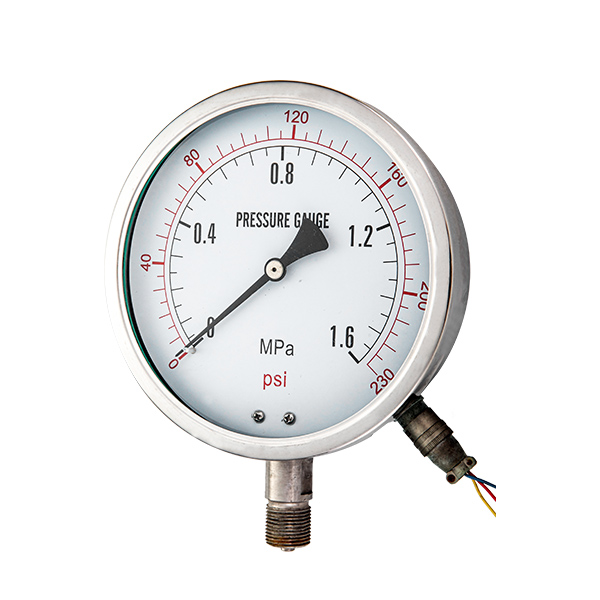 100mm bottom special  pressure  gauge with electric contact OKT-77