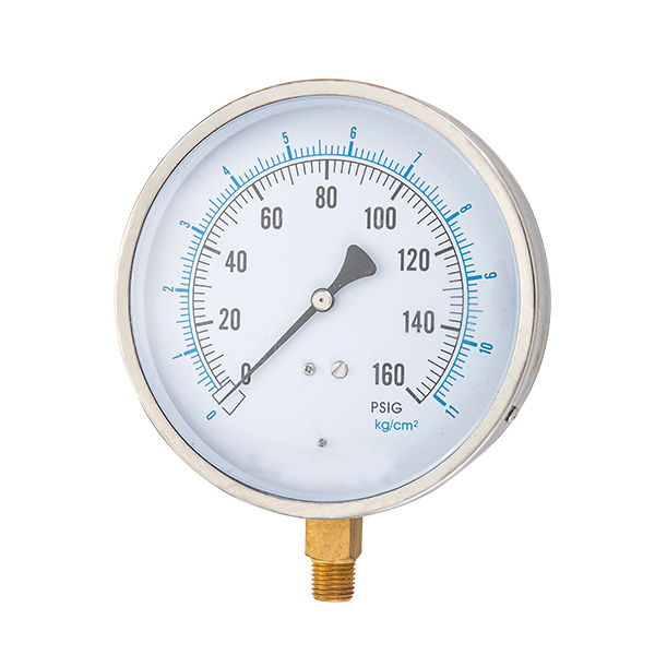 100mm bottom   process pressure gauge with stainless steel case OKT-1