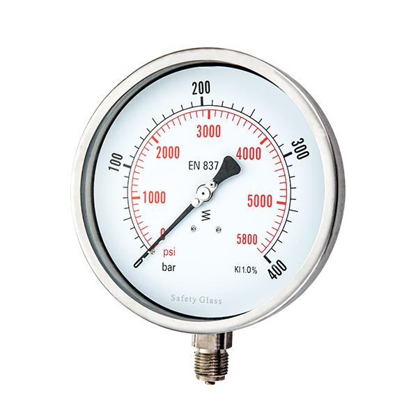 160mm  radial  argon arc type stainless steel pressure gauge OKT-23