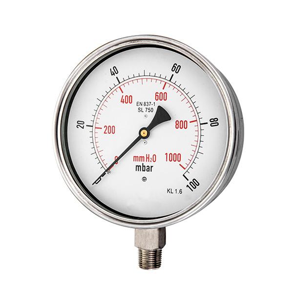 150mm  radial  stainless steel capsule pressure gauge  OKT-65