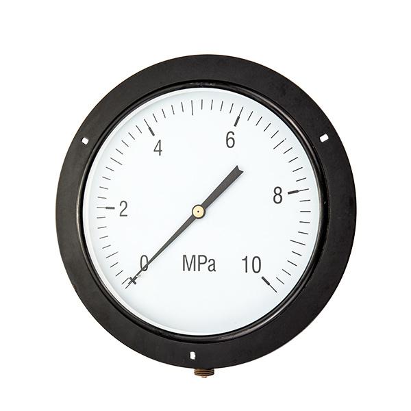 250mm bottom standard pressure gauge with front flange OKT-56