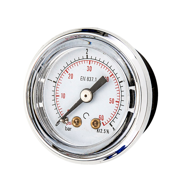 40mm axial ABS case pressure gauge manometrt with quick fitting OKT-27