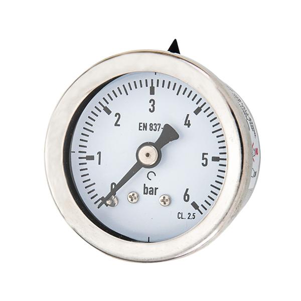 40mm axial brass connection glycerin filled pressure gauge OKT-2