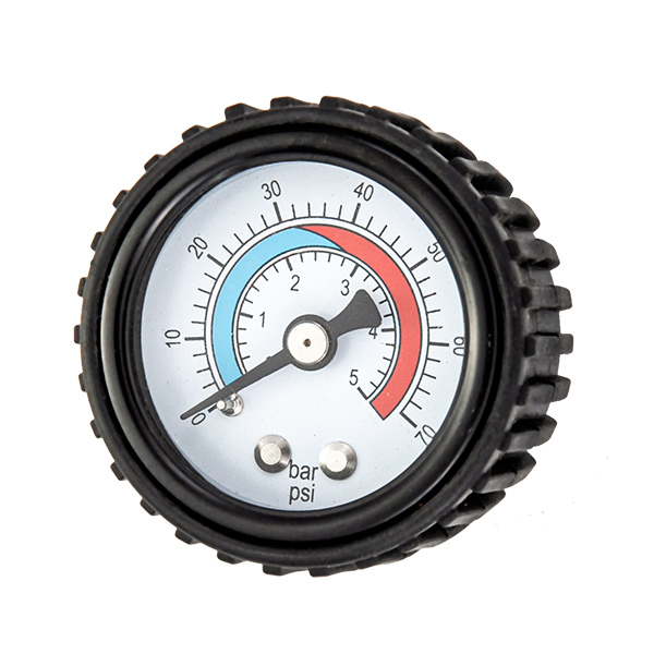 40mm steel case standard pressure gauge with rubber cover OKT-32