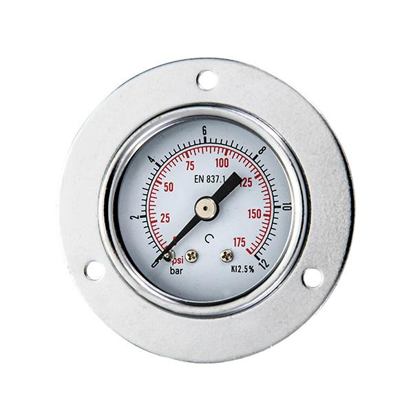 40mm back brass connection standard pressure gauge with flange OKT-34