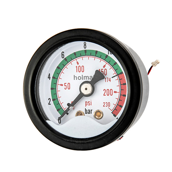 40mm back brass connection  manometer with signal light OKT-35