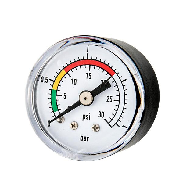 40mm back standard pressure gauge with sanp in plastic case double secel OKT-38