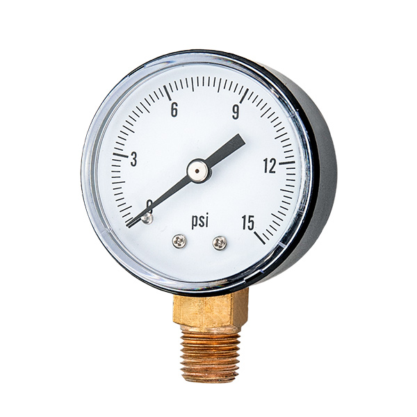 40mm standard pressure gauge with sanp in plastic case OKT-28