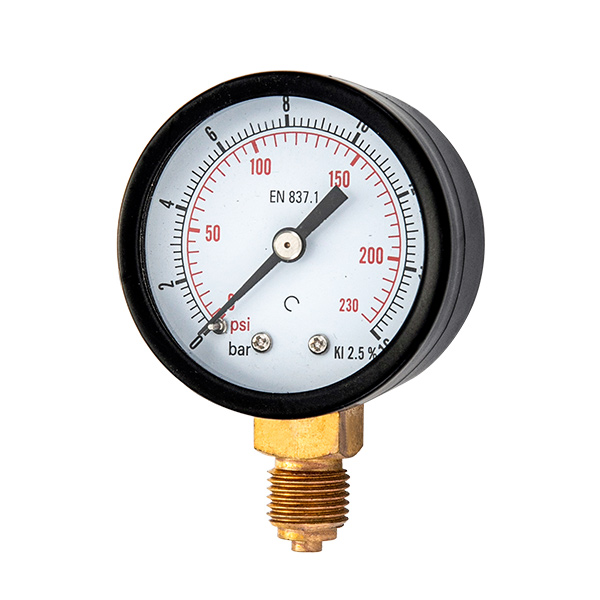 40mm standard pressure gauge with balck steel case OKT-29