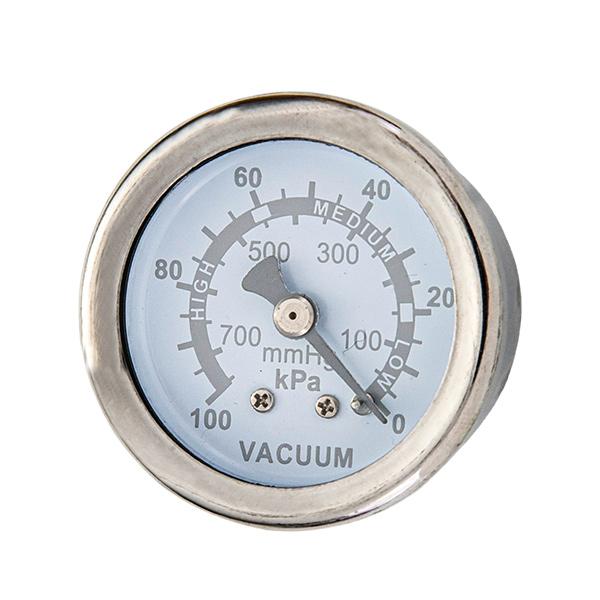 40mm axial brass connection glycerin filled vacuum  pressure gauge crimp type OKT-4