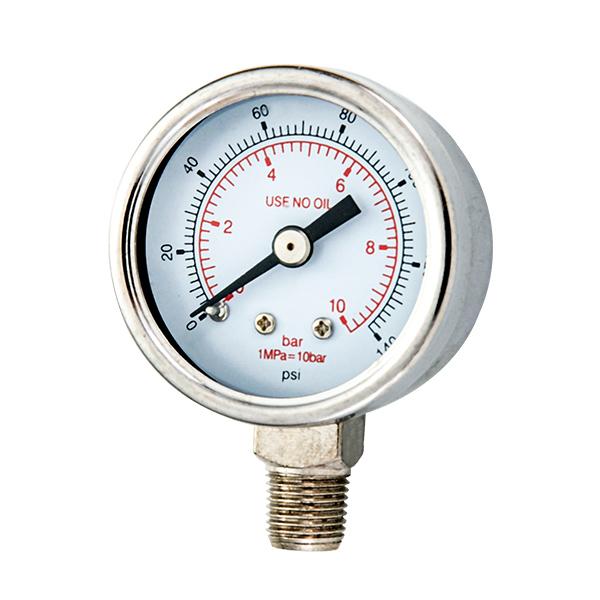 40mm bottom   standard pressure gauge with stainless steel housing and internal part OKT-58