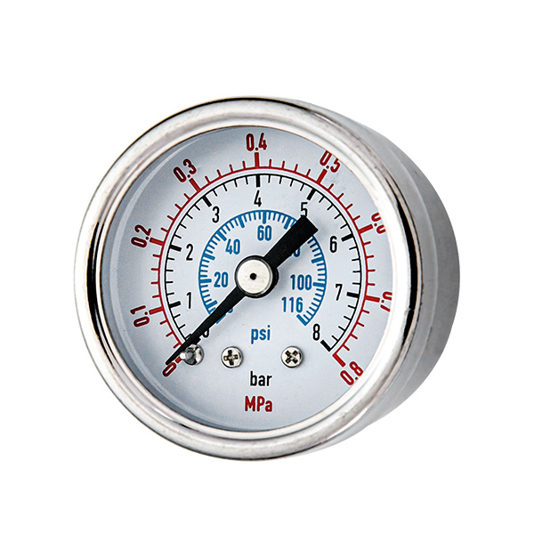 40mm back standard pressure gauge with stainless steel housing and internal part  OKT-60