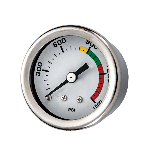 40mm axial brass connection glycerin filled pressure gauge all stainless OKT-61