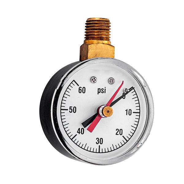50mm bottom standard pressure gauge with red mark adjustable pointer OKT-44