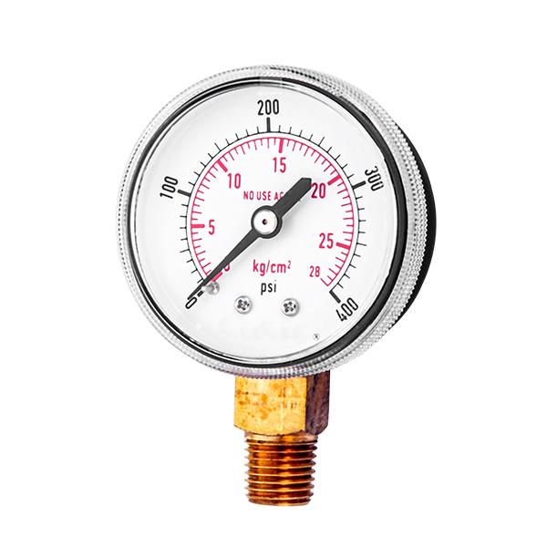 50mm bottom  pressure gauge screw type   OKT-46