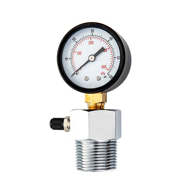 50mm standard pressure gauge with valve OKT-40