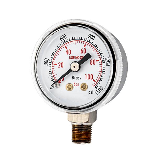 50mm radial standard pressure gauge with screw type lens OKT-41