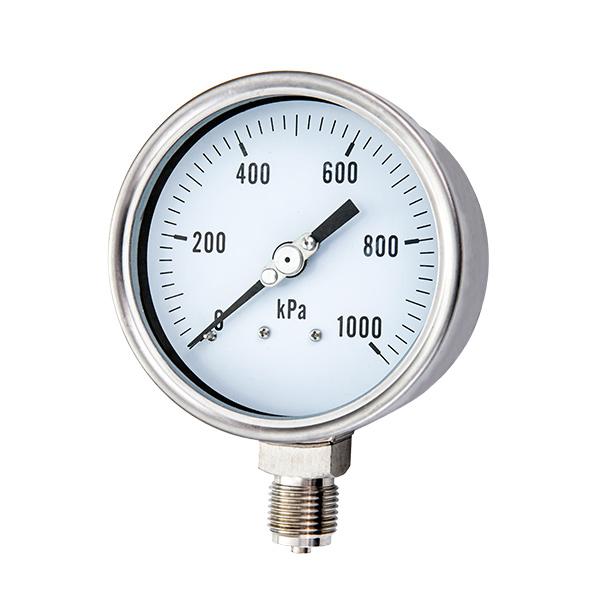 63mm radial laser welding type stainless steel pressure gauge OKT-18