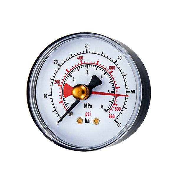 63mm bottom  pressure gauge withred mark adjustable pointer OKT-52