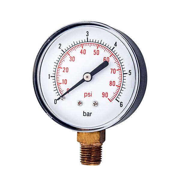 63mm bottom  pressure gauge with snap type pc window OKT-50