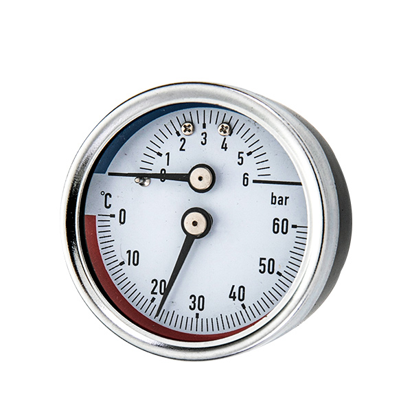 63mm back  mounting thermo-manometer with back steel case OKT-82