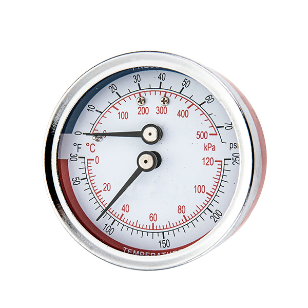 80mm back  mounting thermo-manometer with back steel case OKT-85