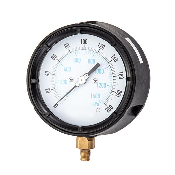 113 radial process pressure gauge polypropylene case OKT-68